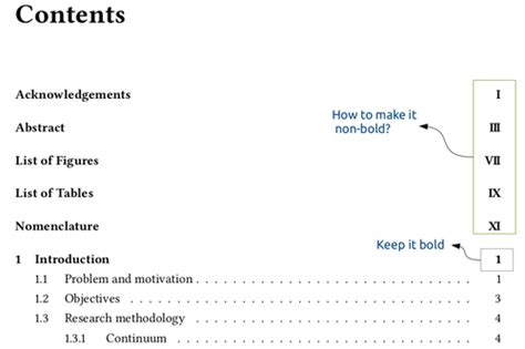 how to make a page table of contents how to make front matter page number