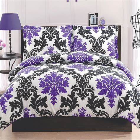 purple and white comforter sets chic black and white bedding for
