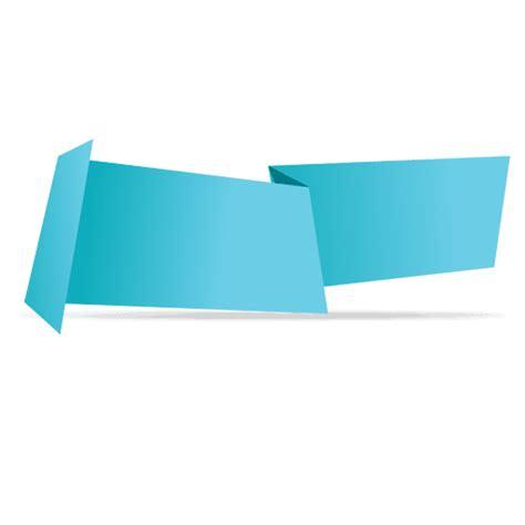 transparent origami paper blue horizontal origami banner transparent png svg vector