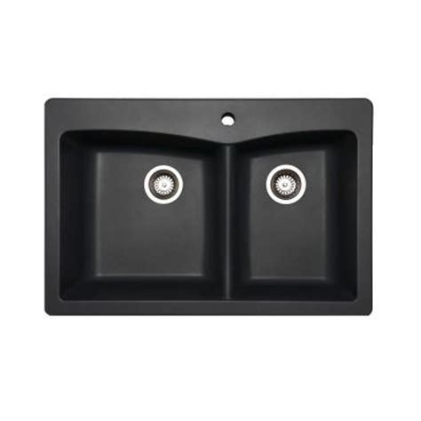 slate kitchen sink glacier bay saratoga dual mount composite 33 in 1