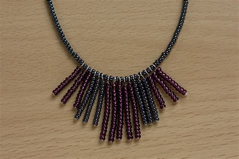 how to make jewelry necklace seed bead fringe necklace 183 how to bead a beaded tassel