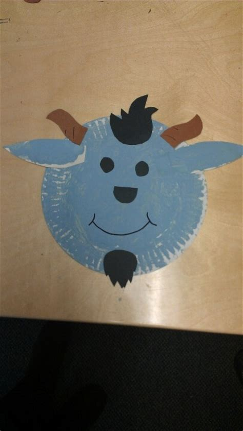 goat paper plate craft paper plate goats fall preschool themes