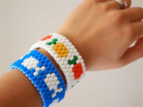 where can i get to make bracelets fruit and fish perler bead bracelets from pink stripey socks