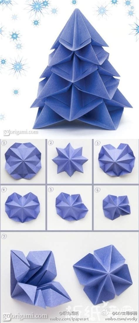 paper folding crafts step by step how to make paper craft origami trees step by