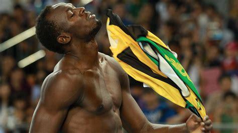 Usain Bolt Crash by Usain Bolt Crashes Out Of 100m After False Start Channel
