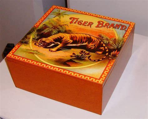 decoupage memory box keepsake box decoupage tiger brand advertising all the