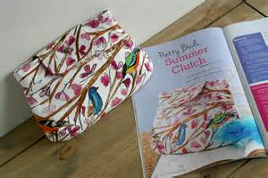 sewing craft projects summer clutch featured in sewing world magazine issue