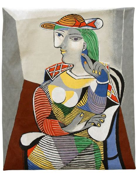 picasso paintings of therese pablo picasso portrait de th 233 r 232 se tapestry for
