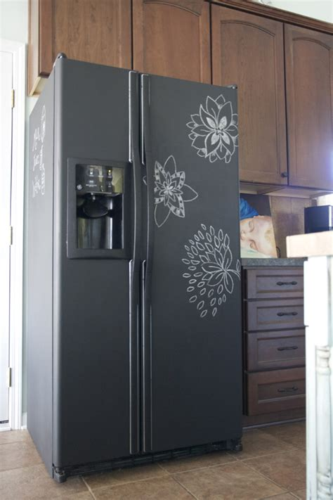 chalkboard paint cost for an fridge took about 3 coats of