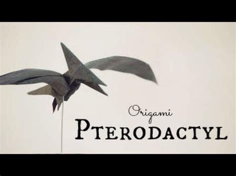 pterodactyl origami how to make an origami pterodactyl pteranodon tadashi