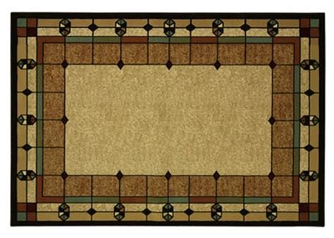 mission style area rugs deco area rug 5x7 stained glass design arts and