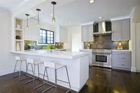 white shaker kitchen cabinets for modern home home step by steps installing kitchen peninsula cabinets