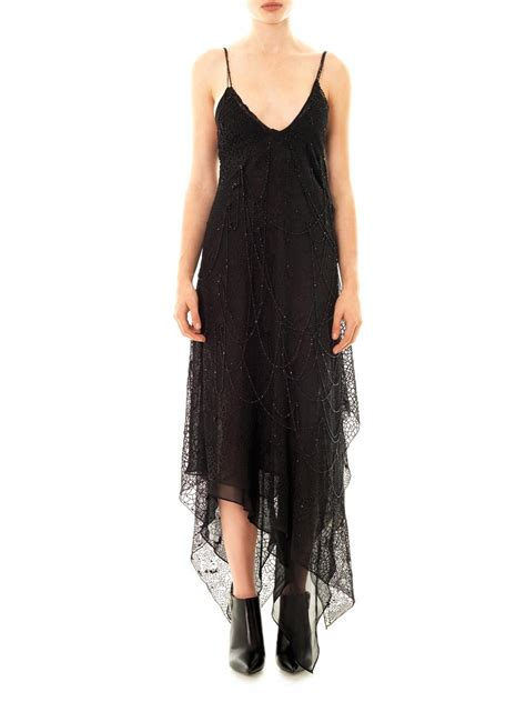 black beaded gown laurent beaded tulle gown in black lyst