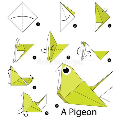 steps to make origami step by step how to make origami a pigeon