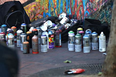 spray paint in san francisco it takes this many spray paint cans to maintain a mural in