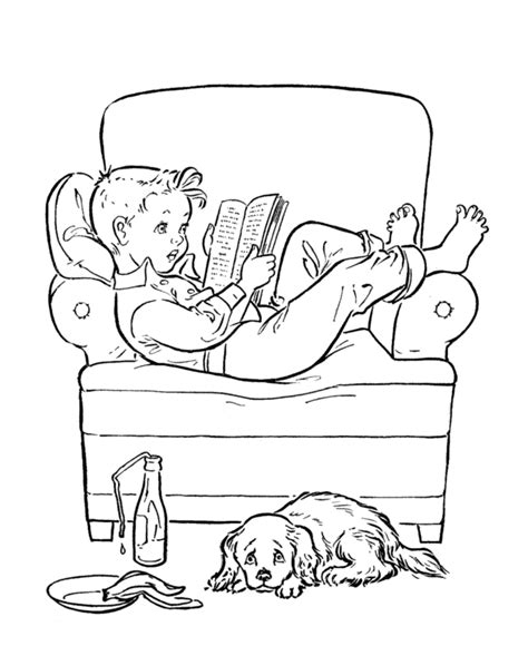 colouring pictures of books reading book coloring page coloring home