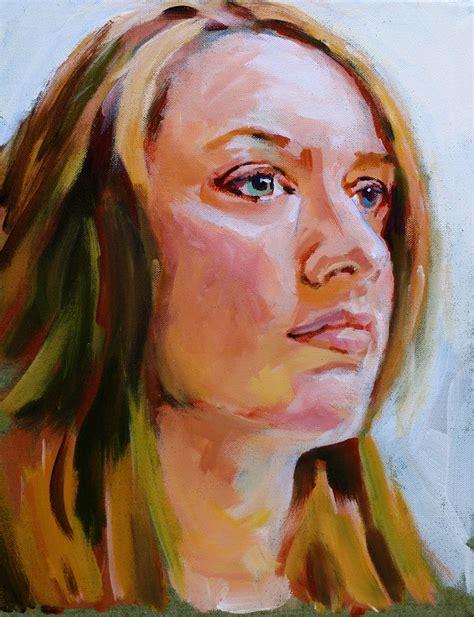 acrylic painting portrait david lobenberg last week s lobenberg acrylic portrait