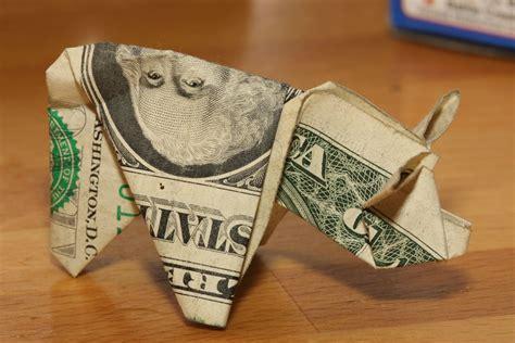 origami pig dollar motorist s dollar bill origami pigs photo gallery autoblog