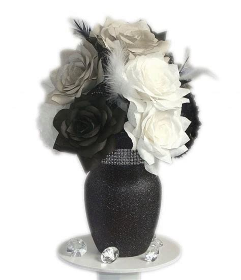 and white centerpieces black and white centerpiece black white wedding decor