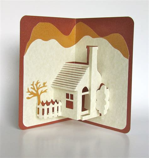 how to make a 3d card home pop up 3d card home d 233 cor origamic architecture handmade