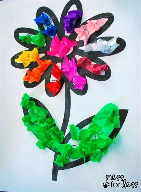 arts and crafts with tissue paper tissue paper flower lesson plans