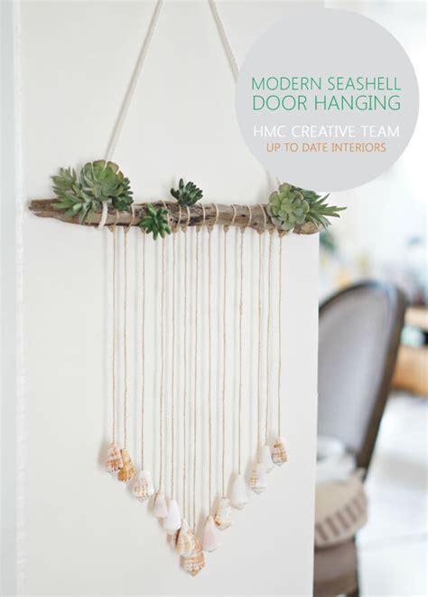 diy hanging door modern seashell door hanging home made by carmona