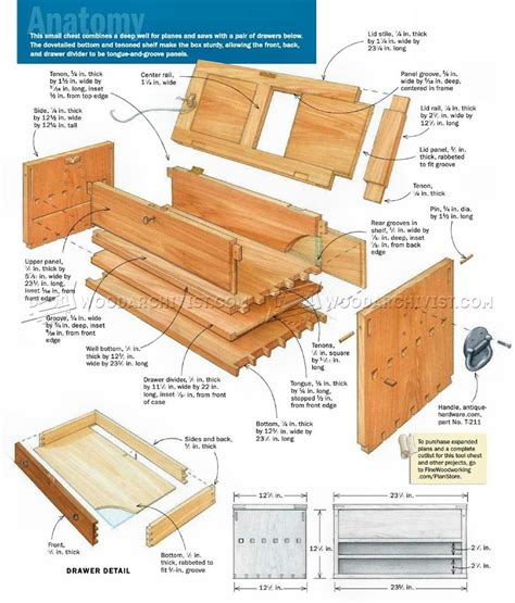 woodworking tool plans tool chest plans woodarchivist