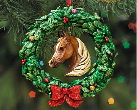 equestrian ornaments equestrian wreath ornament raff and friends