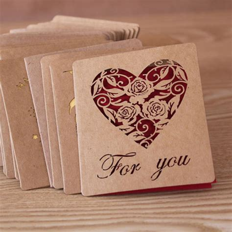 greeting card supplies folding kraft paper greeting card best wishes happy