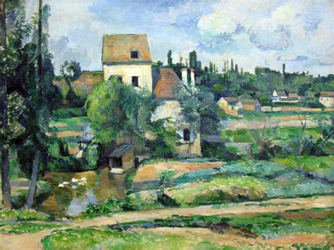File:1881 Cezanne Muehle an der Couleuvre bei Pontoise   Wikimedia Commons