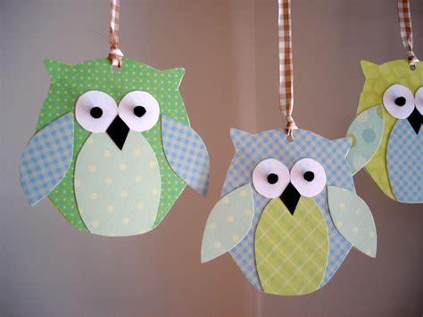 paper owl craft kenenske paper owl mobile