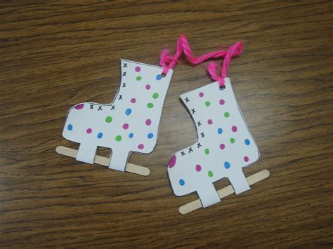 winter craft projects for preschoolers skates craft and more winter program ideas winter