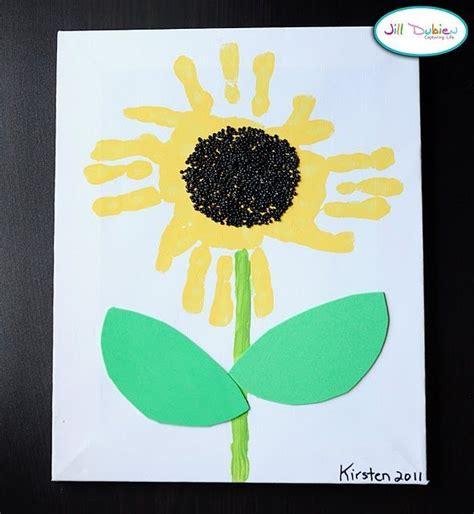 sunflower crafts for handprint sunflower crafts handprint