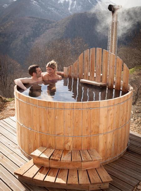 spa ext 233 rieur en bois avec po 234 le int 233 gr 233 spa sauna et hammam maison ext 233 rieur