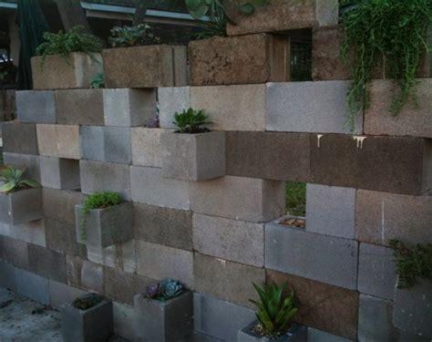 cinder block garden wall cinderblock succulent planter nybro peterson