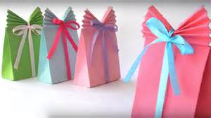 paper craft ideas for gifts diy crafts easy paper gift bags in 5 minutes glamrs