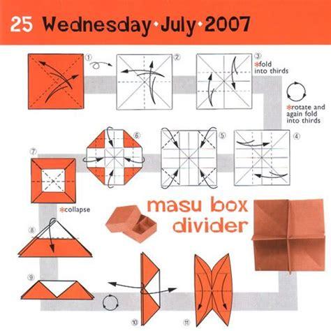 origami box with divider masu box divider crafts
