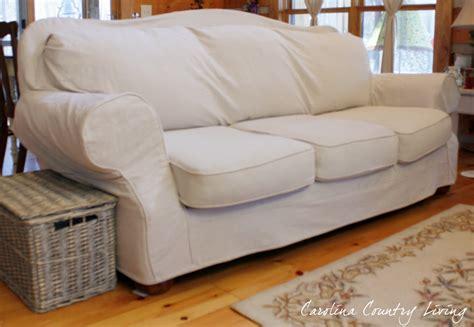 country sofa slipcovers carolina country living drop cloth sofa slipcover