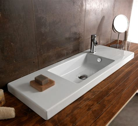 how wide is a kitchen sink wide modern ceramic wall mounted vessel or built in sink