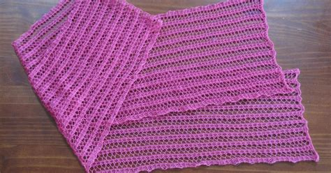 one row knit scarf pattern just create every day one row lace scarf