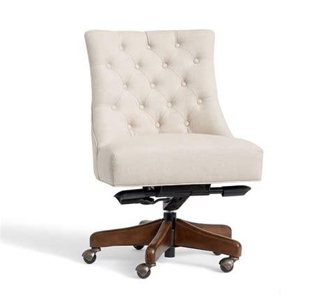 upholstered desk chairs swivel tufted swivel desk chair pottery barn