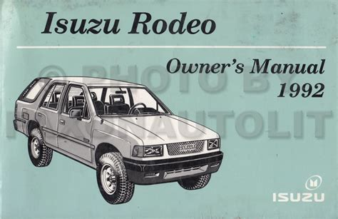 car owners manuals free downloads 1995 isuzu rodeo regenerative braking service manual service manual 1992 isuzu rodeo 1992 isuzu rodeo service repair manual 92