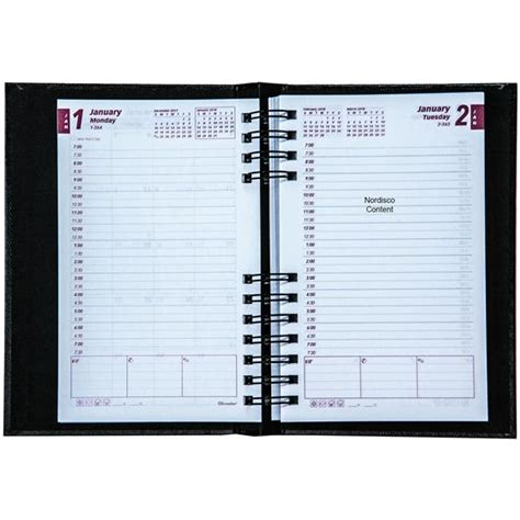 2018 daily planner get done brownline cb634c blk 2018 coilpro daily planner nordisco