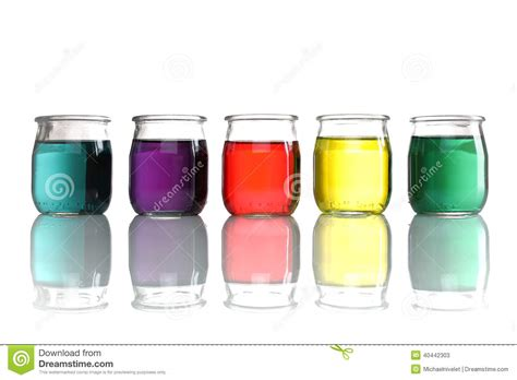 colored water jars of colored water stacked stock photo image 40442303
