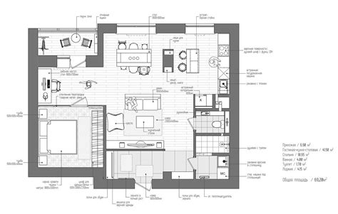 home building plans eclectic single bedroom apartment with open floor plan