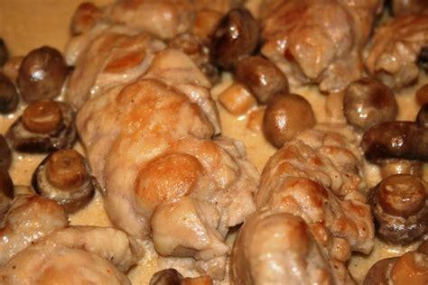 recette de ris de veau aux chignons la recette facile