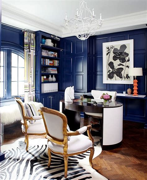 home office interiors 10 eclectic home office ideas in cheerful blue