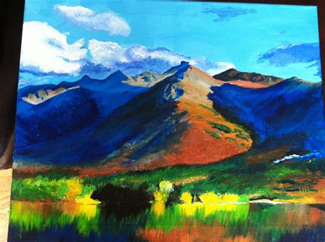 acrylic painting mountains mountains painting acrylic www pixshark images