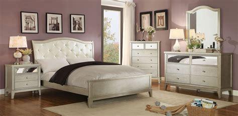 silver bedroom furniture sets adeline silver upholstered platform bedroom set cm7282q
