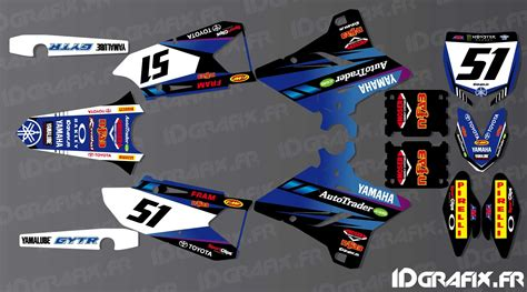 kit decoration justin barcia edition yamaha yz yzf 125